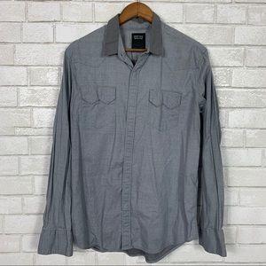 Levi's button snap down shirt grey